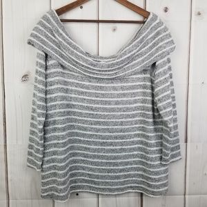 Lane Bryant Gray Off the Shoulder Top Size 18/20